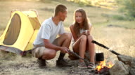 Couple at the camping video