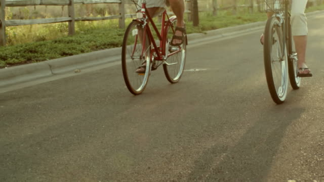 Couple bike ride and talk video