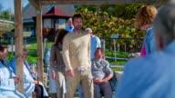 Couple comes to entertain the elderly citizen video