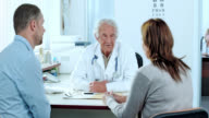 Couple consulting the attending physician video