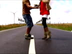 Couple Dancing Salsa at the street video