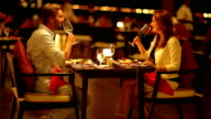 couple dining in close atmosphere video