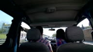Couple disputing in a car video
