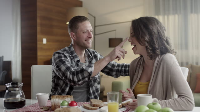Couple eating video