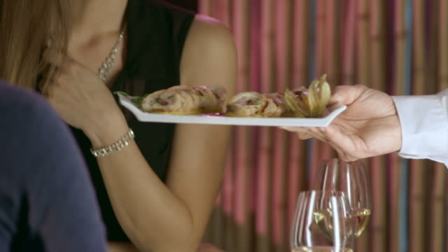 HD DOLLY: Couple Enjoying Romantic Fine Dining video