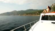 Couple Enjoying The Cruise on Yacht video