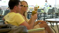 Couple Having a Date in Outdoor Cafe video
