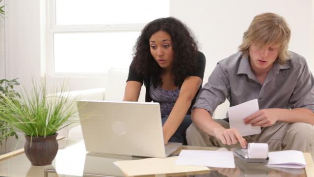 Couple having financial troubles video