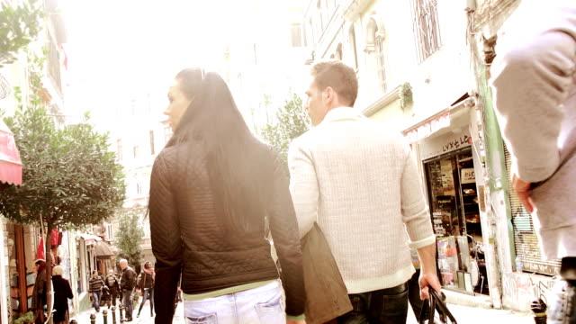 Couple having fun in Istanbul video