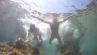 HD: Couple Having Fun In The Sea video