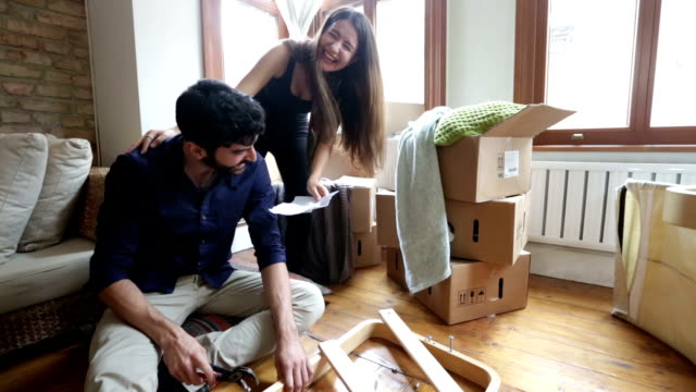 Couple Helping While Moving Home video
