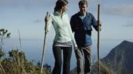 Couple hiking in Hawaii's Na Pali Coast video