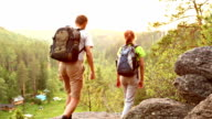 Couple hiking video