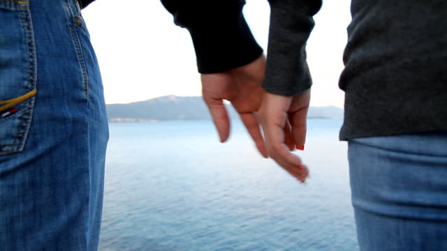 CU Couple Holding Hands video