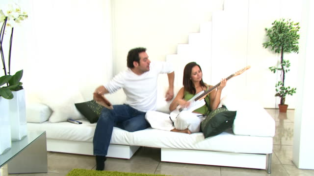Couple in amazing modern home video