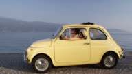Couple in classic car video
