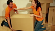 Couple in love consists boxes. video