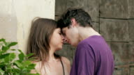 couple in love kissing , lover, passion, tenderness video
