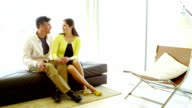 Couple in modern home video