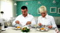 Couple in restaurant video