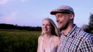 Couple in sunset video