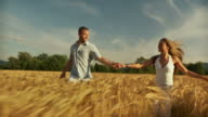 HD SLOW-MOTION: Couple In Wheat video