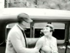 Couple kisses-From 1930's film video