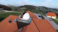 Couple looking the surroundings from observatory video
