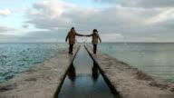 Couple near the sea video