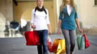 Couple of Girls in Happy Shopping Activity video