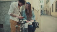 Couple of tourists in Florence, travelling around Italy video
