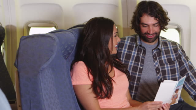 Couple on a plane video