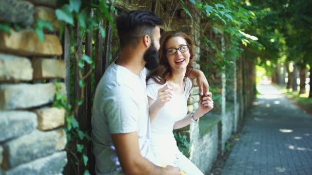 Couple on a romantic walk. video