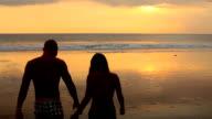 Couple on beach video