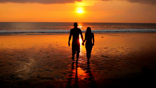 Couple on beach video