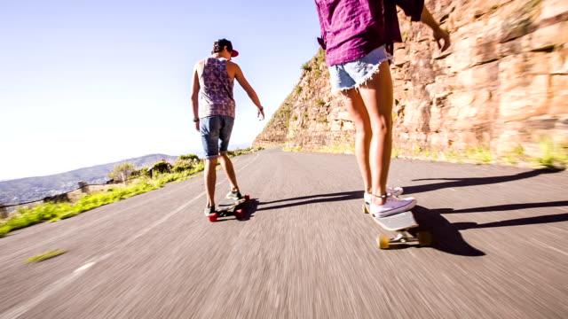 Couple on skateboard video