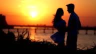Couple on sunset video