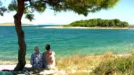 HD: Couple On The Beach video