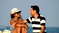 Couple On Vacation Or Honeymoon video