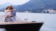 Couple on yacht video