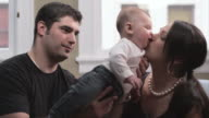 Couple Play with Baby video
