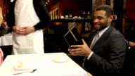 Couple Receives Guest Check Waiter video