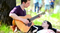 Couple Relaxing at Picnic video