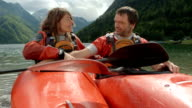 HD: Couple Relaxing In Kayaks video