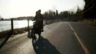 Couple Riding Motor Bike video