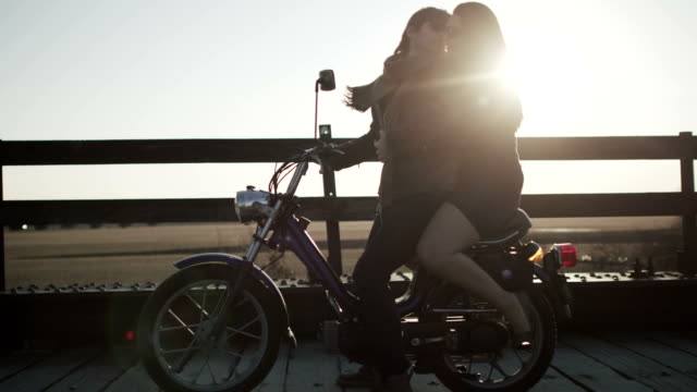 Couple Riding Motor Bike video