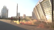 Couple rollerblading at daytime. video