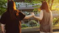 Couple Running Across Street video