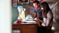 Couple Running Business From Home Office video