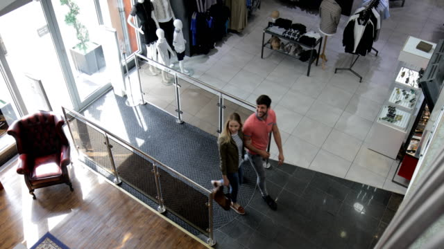 A Couple Shopping in the City Centre video